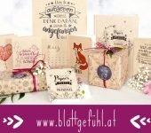 Öko Geschenkpapier Grußkarten Blattgefühl