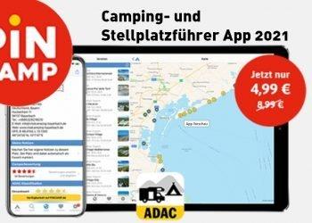 Pincamp - ADAC Campingführer, Stellplatzführer App