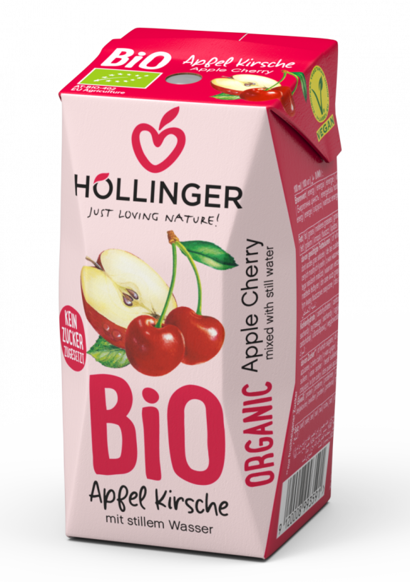 Höllinger Schulsaft Bio Apfel Kirsche